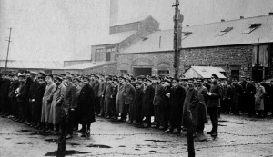 Internees at Fron Goch camp