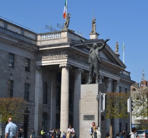 James Larkin outside GPO Dublin