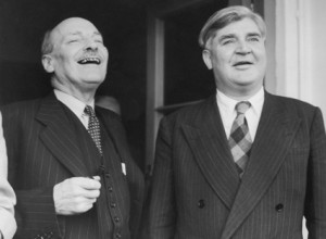 Attlee with Aneurin Bevan